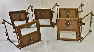"5 Vintage USPS Mail Post Office P. O. Box Door, Bank, Antique  6"" X 5 1/2"""