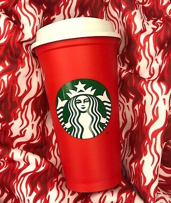 STARBUCKS Limited Holiday 2018 Red Reusable Plastic Cup