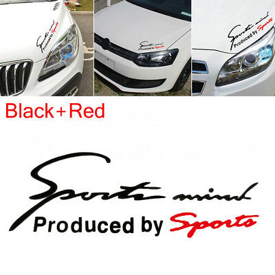 1PC Racing Car Sports Mind Decal Stickers Reflective Vinyl Graphic Sticker