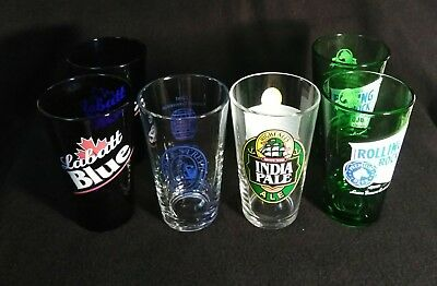 Lot Of 6 Beer Glass