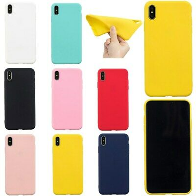 For iPhone XS Max XR X 8 7 6 6s Plus Soft TPU Rubber Silicone Back PC Case Cover