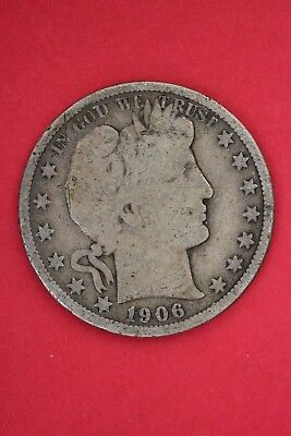 1906 D Barber Liberty Half Dollar Exact Coin Pictured Flat Rate Shipping #OCE150