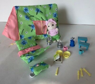 Calico Critters Camping Adventure with Accessories and Rabbit