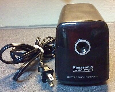 Panasonic KP-380 Electric Pencil Sharpener Auto Stop Black School Office Used