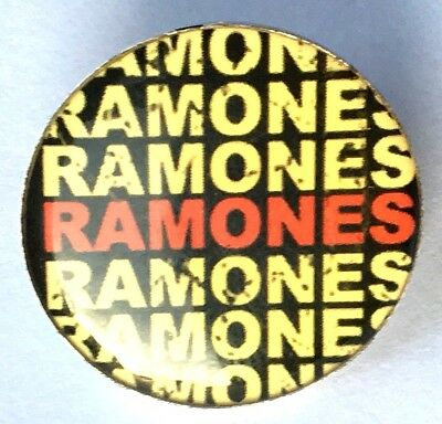 THE RAMONES Official Studded Tack Pin Badge Tour Collection Punk 2006