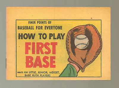 How Play First Base NM 1957 Finer Points Baseball Babe Ruth Comic Book N