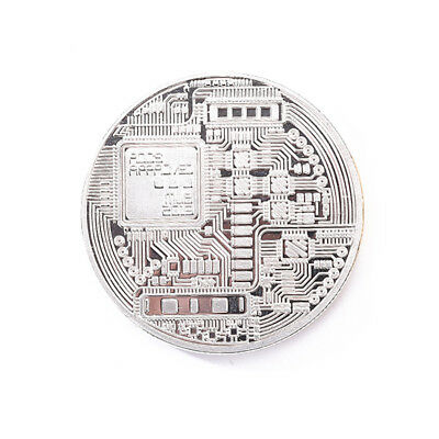 Silver Plated Physical Bitcoins Casascius Bit Coin BTC With Case(Sliver) S1#