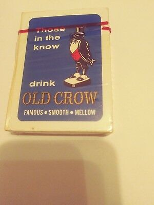 Old Crow Whiskey Bourbon Playing Cards      Brand New   Unopened  Two Crows