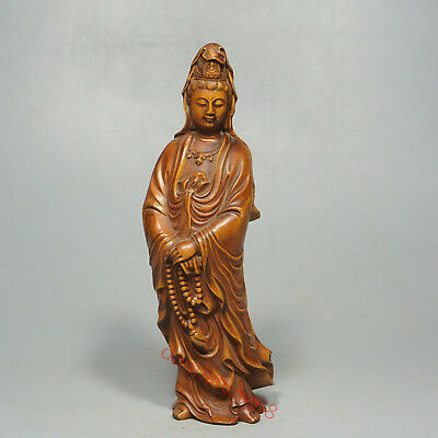 China Exquisite Hand-carved Bodhisattva carving Boxwood statue