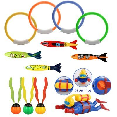 Diving Toy Underwater Swimming 12 Pack,Diving Pool Toy Rings, Bath toys For Kids