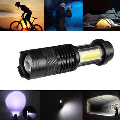 3800LM COB Led Portable Flashlight Ultra Bright Zoomable Mini Torch Focus Light