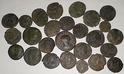 Lot Of 26 Roman Coins, Mostly Clean