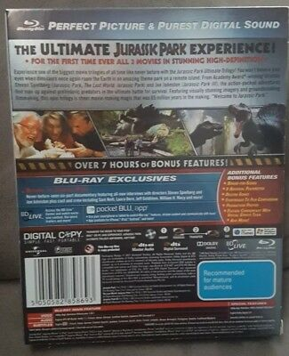 Jurassic Park - Ultimate Trilogy 1 2 3 - Blu Ray Movie Aus Region B Like New