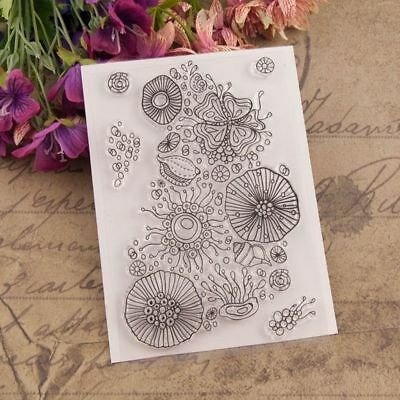 Flower Clear Silicone Stamps Seal Scrapbooking Album Card Decor Diary DIY Craft
