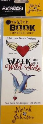 Qty 5 - SwatchBooks Rub on TRANSFERS Creative Imaginations Walk on the Wild Side