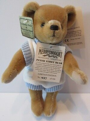 Merrythought England Peter in Sweater Mohair Teddy Bear With Tags