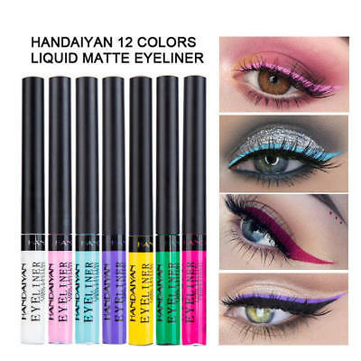 12 Color Matte Glitter Eyeliner Makeup Gel Waterproof Liquid Eye Liner Beauty AU