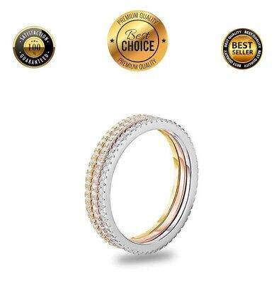 CZ Crystal Anniversary Band 925 Sterling Silver w/ Rhodium Eternity Ring, Size 5