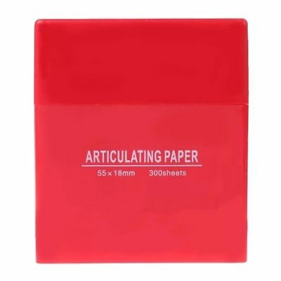 Smooth And Soft Non-sticking Dental  Articulating Paper Double Sided Strips Red