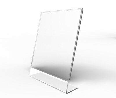 Clear Acrylic Sign Holder Table Tent Picture Frame Photo Sign Menu Holder