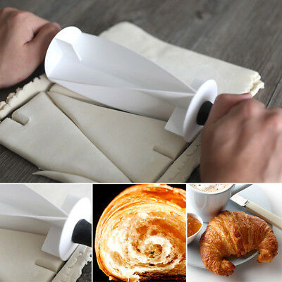 Croissant Bread Make Rolling Cutter Wheel Dough Cookie Pastry Kitchen Bakeware