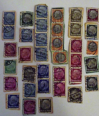 Germany Small Lot Of Old Cut Off Stamps #1