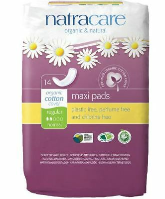 NATRACARE - Natural Feminine Maxi Pads Regular - 14 Pads