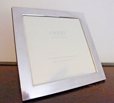 "HALLMARKED SOLID SILVER DECO STYLE PHOTO PICTURE FRAME SHEFFIELD 2005 10"" x 10"""