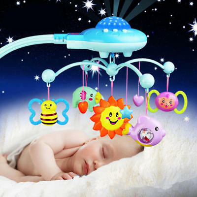 Baby Musical Bed Crib Cot Mobile Star Dreams Flash Nusery Lullaby Light Toys New
