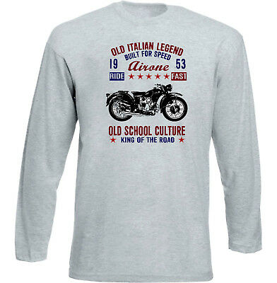 Vintage Italian Motorcycle Moto Guzzi Airone 250 - New Cotton T-Shirt