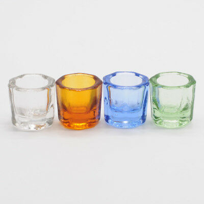 Glass Dappen Dish Household Octagonal Cups Reconcile Cup Dental Mixing Bowls