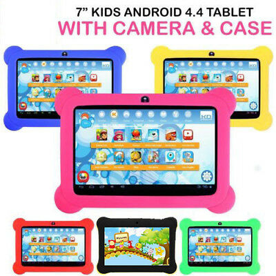 "7"" Kids Tablet 8GB Android 4.4 Quad Core Dual Camera Wifi PC for Children Study"