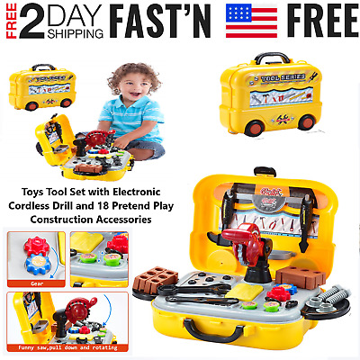 Toddler Boy Toy Tool Box Educational Pretend Play Girl Kids Learning Game