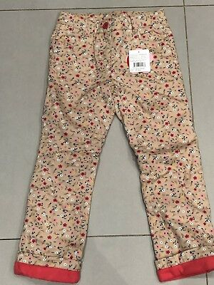 Girls Floral Lined Trousers. Age 6-7 Years