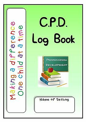 Childminding, Childminder, EYFS-Continuous Professional Development Record Book