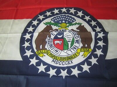 Missouri State Flag- 3' x 5'-Polyester with Grommets!!!!Polyester Packaged.