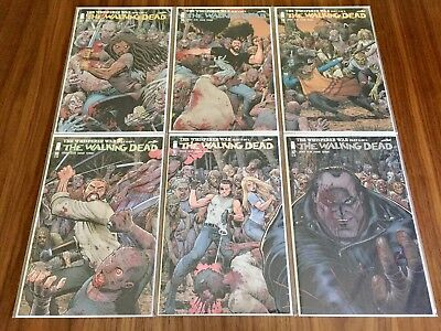 The Walking Dead #157-162 (all NM+), Adams WHISPERER WAR Connecting Variants!