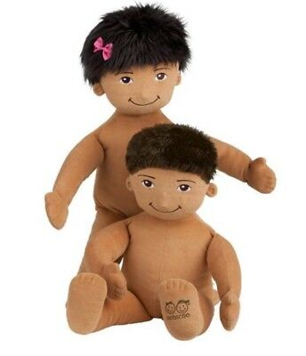 Oobicoo  life size baby doll comes with both boy & girl hair gender neutral .