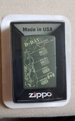 "Zippo Lighter ""D -Day Normandy"" brand New & Boxed"