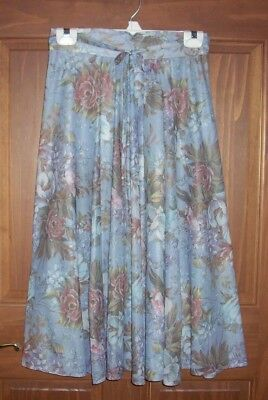 Size 9-10 Womens Muted Gray/Multi Colored Formal Wedding Evening Skirt