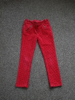 Next Red spotty corduroy trousers age 5 years