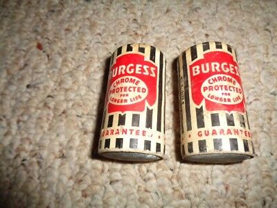 Vintage Pair of BURGESS D Cell Batteries - Chrome Protected
