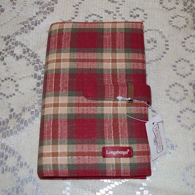 Longaberger Orchard Park Plaid FABRIC PLANNER Appointments Book ~ New with Tags!