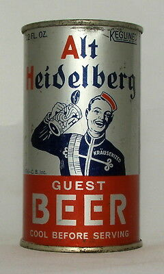 Alt Heidelberg 12 oz. Flat Top Beer Can-Opening Instructions-Tacoma, WA.