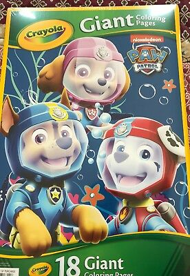 Crayola Paw Patrol Giant Coloring Pages 10 31 Picclick