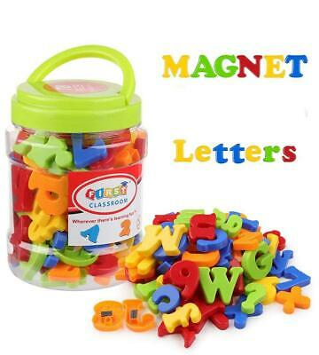 78Pcs Magnetic Alphabet Letters Numbers Capital Lowercase Toy In Jar Kids Toy