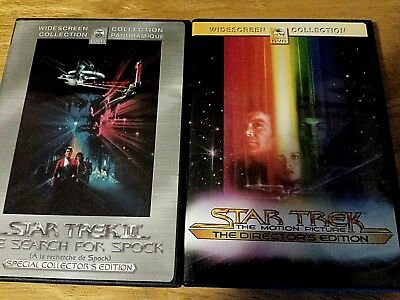 Star Trek: The Motion Picture (DVD, 2001, 2-Disc Lot ) III The search for Spock!