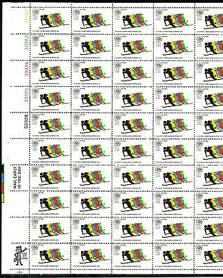 Below Face Value! #c85 Olympic Skiing Airmail Mint Sheet. F-Vf Nh