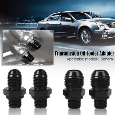 2x Car Anti-Leakage Transmission Connector Oil Cooler Adapter Fitting 1/4NPS-AN6
