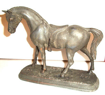 Ornate Antique  Cast Metal  Naturalistic Horse Figure - Nice item